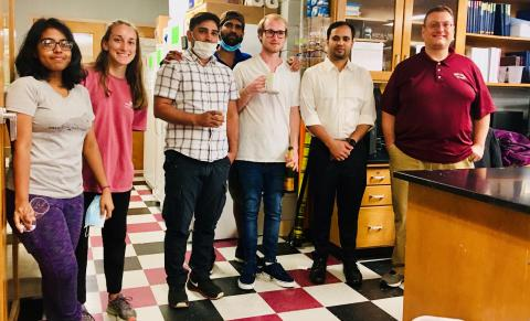 Fitzkee lab reception for Siddik
